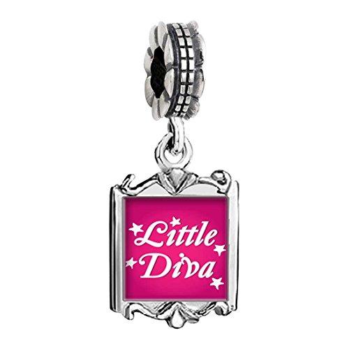 Cartoon Theme Family Mom & Baby Girl & Dad Dangle Bead Charm Bracelet Beads Little Diva Easter