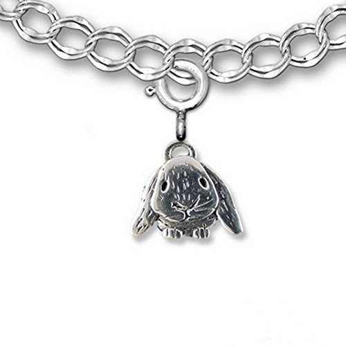 Sterling Silver Lop-Eared Rabbit Charm for charm bracelet by The Magic (Sterling Silver Rabbit Charm)