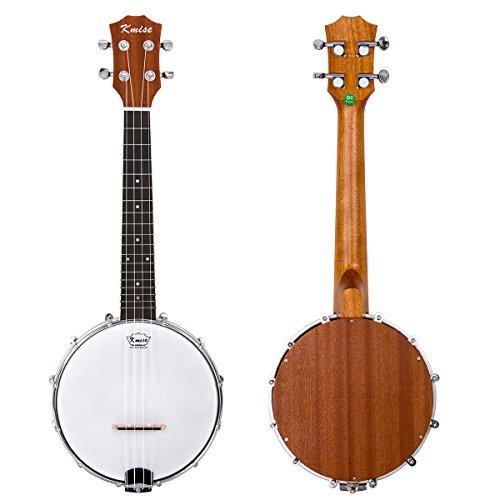 Kmise 4 String Banjo Ukulele Uke Banjo lele Concert 23 Inch Size Sapele Wood