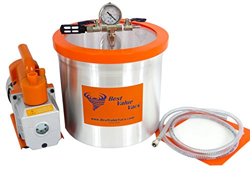 3 Gallon Vacuum Chamber & 3 CFM Single Stage Vacuum Pump (Pro Vac Vacuum Chamber compare prices)