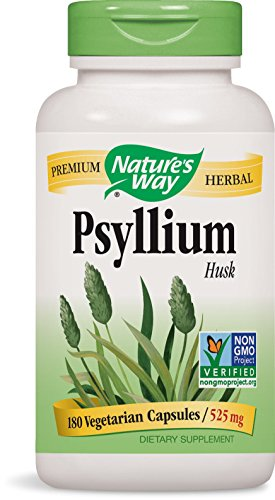 Nature's Way Psyllium Husks, 525 mg, 180 Vcaps (Pack of 2)