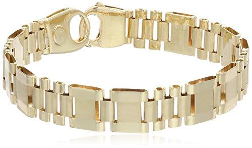 (Men's 14k Yellow Gold Fancy Italian Bracelet, 8.5
