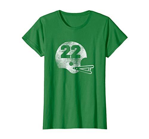 Ladies Vintage Football Jersey - Womens Vintage Football Jersey Number 22 T-Shirt Player Number XL Kelly Green