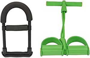 Sport Band for Strengthing Abdomen and Arms , Green MF086-G with Arm Power Wrist, AL216