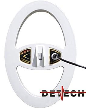 DETECH Monoloop - Bobina para detectores de Metales Minelab GPX, GP, Serie SD con Protector de Bobina Incluido (38 x 25 cm): Amazon.es: Jardín