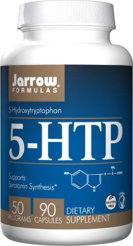 Jarrow Formulas 5-HTP 50mg, Brain and Memory Support, 90 Caps (Support 90 Caps)