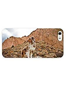 3d Full Wrap Case For Sam Sung Galaxy S4 Mini Cover Animal Dog On The Cliff
