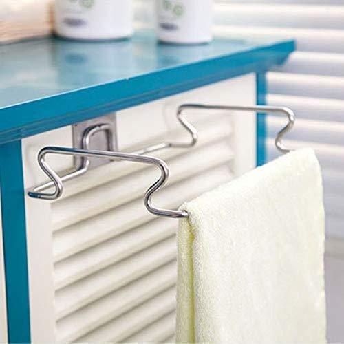 HeroStore Large Garbage Bags Holder Kitchen Wash Cloth Towel Storage Rack Stainless Steel Hanging Cupboard Cabinet Organizer Shelf by HeroStore (Image #3)