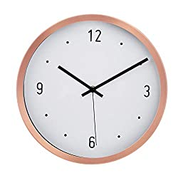 AmazonBasics 12 Dot Wall Clock, Copper