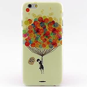 Hydrogen Balloon Villain Pattern Hard Case Cute Cool Phone Back Cover Cove for iPhone 6 Protective Smartphone Shell