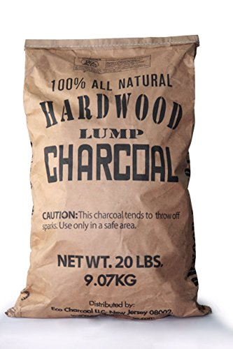 Eco Charcoal 20-Pound All Natural Premium Hardwood Lump Charcoal Bag