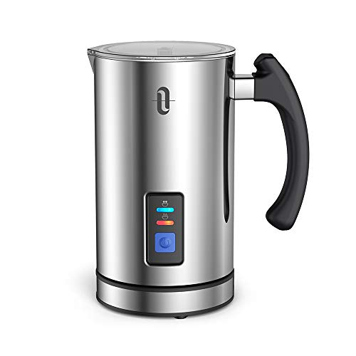 TaoTronics Automatic Milk Frother Warmer Electric Liquid Heater with Hot Milk Functionality, Stainless Steel Electric Milk Steamer for Latte, Cappuccino, Hot Chocolate