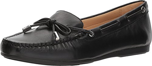 (Michael Kors Womens Sutton Moc Leather Square Toe, Black, Size 7.0 )