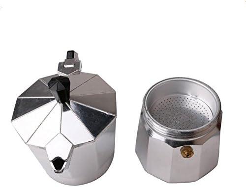 Exclusky Cafetera Italiana Moka Cafetera de Aluminio Octogonal Extracción de café a Vapor 6/9/12 Tazas por Cocina de Gas (no Compatible con la Placa de inducción) (600ML): Amazon.es: Hogar