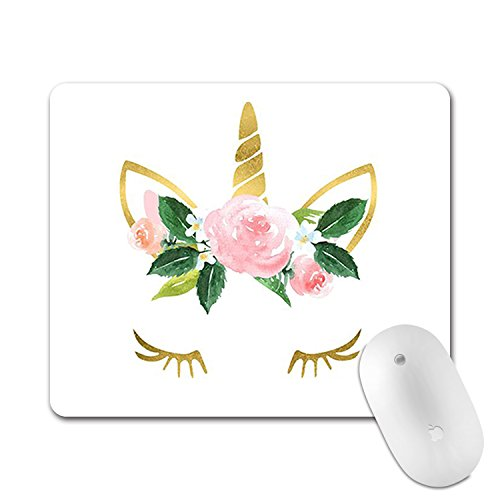 Mouse Pad Cute Funny Pink White Unicorn Star Rainbow Mousepad Round Art Print Comfortable Rubber Edges Gaming Mouse Pad Mouse Pads for Computers Laptop(Unicorn)