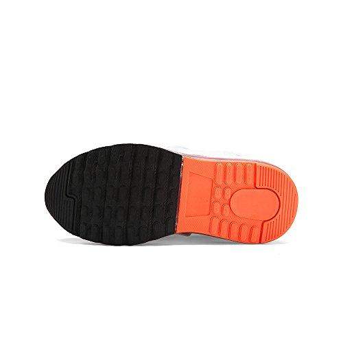 VILOCY Unisex Kinder USB Lade LED Aufhellen Jungen Mädchen Leuchtend Sneaker 6 Farbe Schwarz EU27