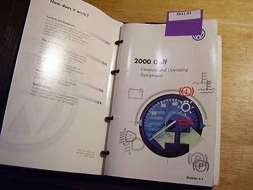 2000 vw volkswagen golf owners manual vw amazon com books rh amazon com 2018 Volkswagen Golf Manual Transmission Volkswagen Golf Manual Transmission