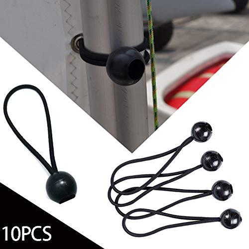 Anyutai Dauerhaftes elastisches festes Seil Elastisches Bindeband Schnurverschl/üsse Outdoor Supplies Befestigungsband 10 st/ücke Robust