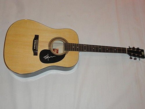 (Shooter Jennings Signed Natural Acoustic Guitar Country Waylon Proof)