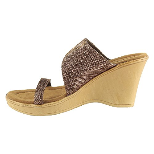 Hi-Attitude Women's Brown Synthetic Wedges (450081033006) – 4 UK