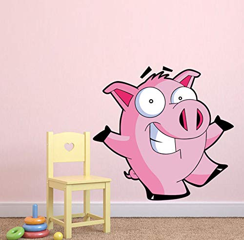 yynight Pink Pig Animals Farm Full Color Wall Stickers for Kids Room Nursery Removable Wallpaper Wall Art Decals Posters Bedroom Decor