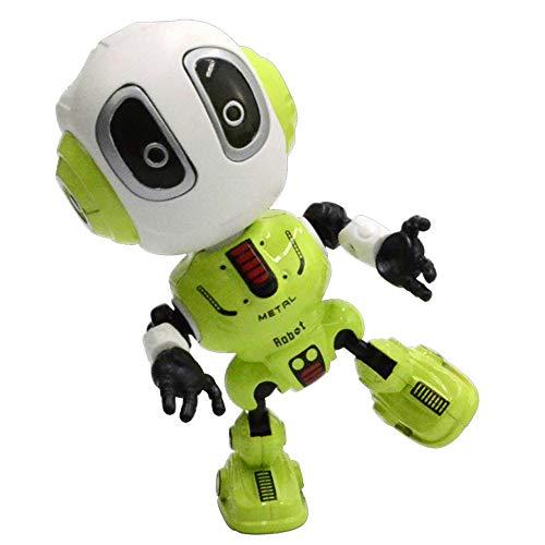 Elflight Talking Robot Kids Toys,Metal Mini Robot Body Record Toy for Boy and Girl Gift - Green Robot