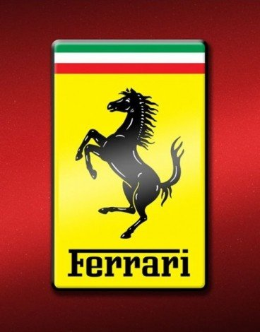 Sports Poster Logo (Beyond The Wall Ferrari Logo Sports Car Photography Hobby Poster Print 16 by 20)