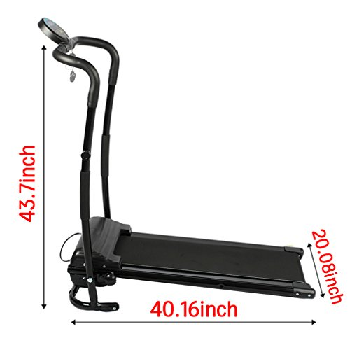 Treadmill Electric Running Machine, Easy Assembly Folding Treadmill Electric Motorized Power Fitness Running Machine Mini Silent Home Training Machine