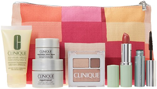Clinique 2015 Skin Care Makeup 7 Pc Gift Set Repairwear Lase