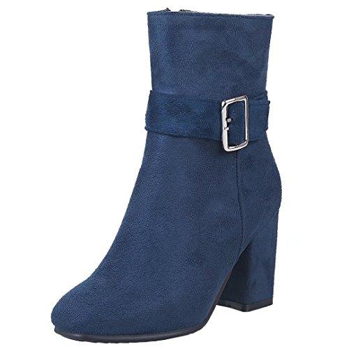WoMen Classic AIYOUMEI AIYOUMEI Classic Boot Boot WoMen Blue Blue XpqHaH