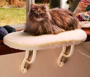 KandH 3096 Unheated Thermo-Kitty Sill Seat, My Pet Supplies
