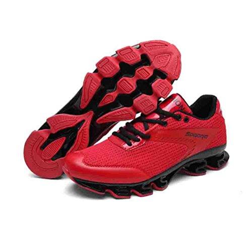 Sport invernali scarpe sportive Autunno e Inverno Respirabile altezza di altezza maschio Forma della lama Scarpe da corsa sportive , Red , 42
