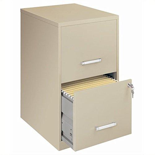 Scranton & Co 2 Drawer Letter File Cabinet in Putty by Scranton & Co