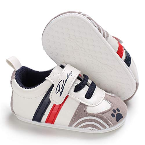 BENHERO Baby Boys Girls Canvas Toddler Sneaker Anti-Slip First Walkers Candy Shoes 0-24 Months 12 Colors (0-6 Months M US Infant), Ff-Navy ()