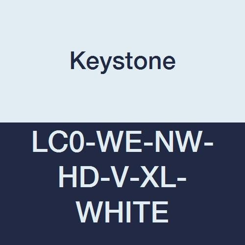 Keystone LC0-WE-NW-HD-V-XL-WHITE Heavy Duty Polypropylene Lab Coat, No Pockets, Elastic Wrists, Velcro Front, Single Collar, XL, White (Pack of 30)