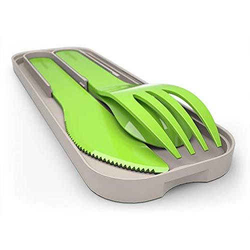 monbento MB Pocket Color Verde - El Juego de Cubiertos de plástico ...