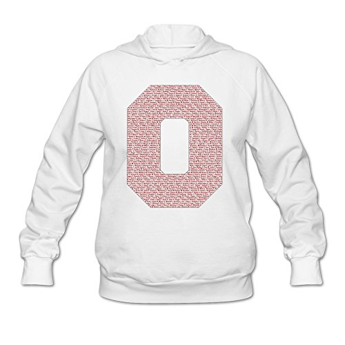 LaviV Women's Ohio State Buckeyes Roster Member Names Sweatshirts White - Ohio State Buckeyes Roster