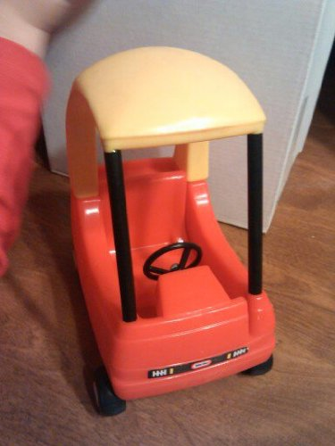Cozy Tikes Coupe Car Little (Used Little Tikes Doll House Sized Red Yellow Black Cozy Coupe Car with Opening Door Tyke)