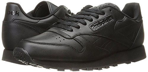 Reebok Men's Cl Lthr Fashion Sneaker, Us-Black/Black/Black, 9 M US (Reebok Mens Spring)
