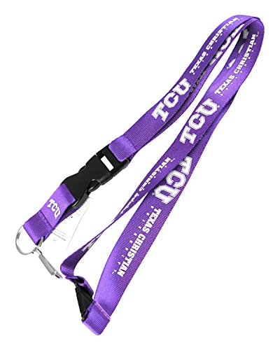 (TCU Horned Frogs Texas Christian Team Logo Clip Lanyard Nylon Keychain Id Ticket Holder)