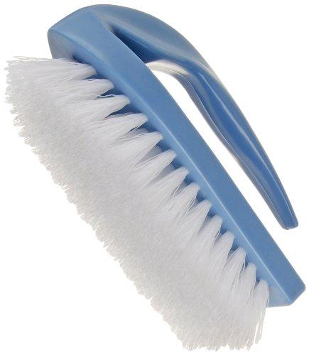 Carlisle 3628900 Iron-Style Handle Scrub Brush, Blue Plastic Block, 1''-Long White Polypropylene Bristles, 6'' L x 2-1/2'' W (Case of 48) by Carlisle