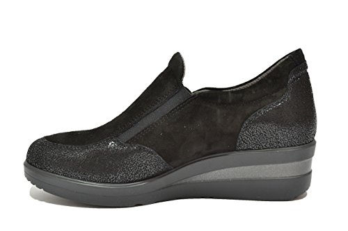 Melluso Slip On Sneakers Wedge Chaussures Noires Femme Walk R25816s