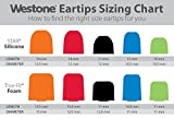 Westone True-Fit Foam Replacement Eartips - 5 Pair Pack, Fit Kit with Multiple Sizes
