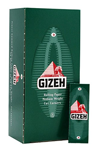 Gizeh Green Cigarette Rolling Papers 70mm - Full Box (50 Booklets) -