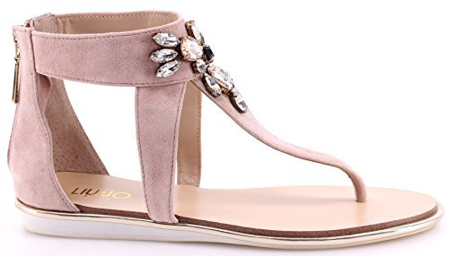 Zapatos Sandalia Mujeres LIU JO Sandals Flip Flops Flat Nicol Rosa Glace Jewel