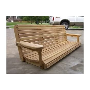 Cruzeu0027s 6u0027 Cypress Porch Swing Unique Adjustable Seating Angle