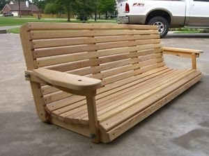 Cruze's 6′ Cypress Porch Swing Unique Adjustable Seating Angle For Sale