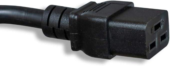 20A ZWACFGAB-06 6 12AWG Cablelera AC Power Cord Extension 250V IEC320 C20 to IEC320 C19