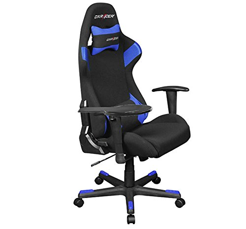 Dx Racer OH/FD66/NB/SUIT Newedge Edition + Free Armrest Black Blue Racing Bucket Seat Office Chair Pc Gaming Chair With Pillows(Black/Blue)