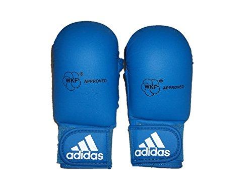 Adidas Karate Faustschützer mit Daumen blau L
